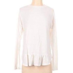 Banana Republic White Long Sleeve Blouse